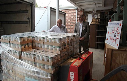 40,000 pounds of food are delivered