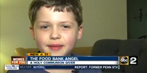 Elementary Student Collecting Donations for Communion