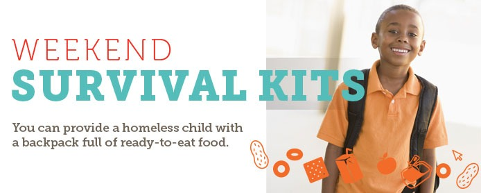 You can provide a homeless child with a backpack full of ready-to-eat food
