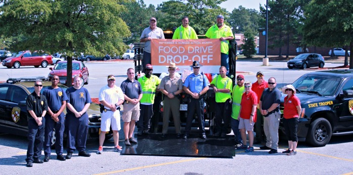 Maryland State Police and Department of Transportation (MDOT) food drive