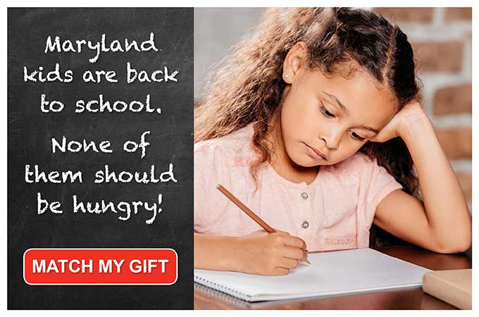 Maryland kids are back to school and none of them should be hungry