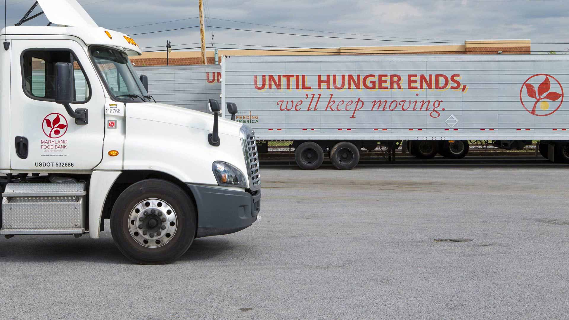 Maryland Food Bank delivery trucks