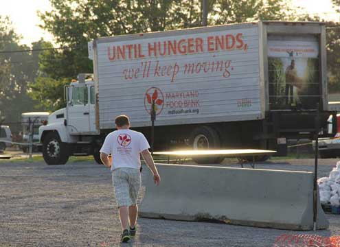 Maryland Food Bank truck