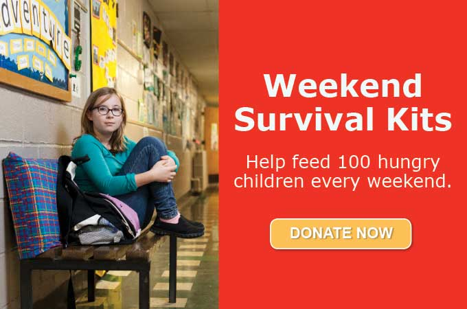 Weekend Survival Kits - Help feed 100 hungry children every weekend