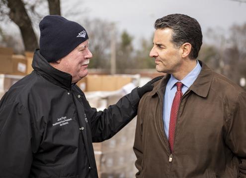 furloughed worker with Congressman John Sarbanes
