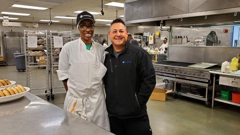 Chef Josh with Pria