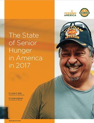 state of senior hunger in America in 2017 report cover