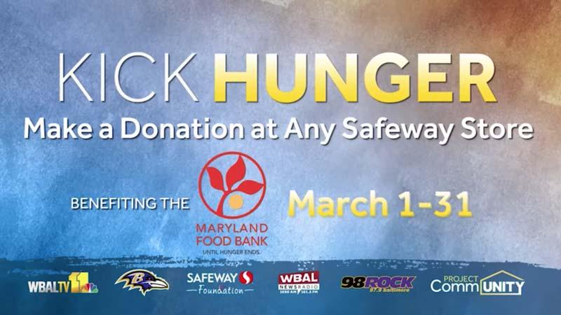 Kick Hunger - make a donation at any Safeway store