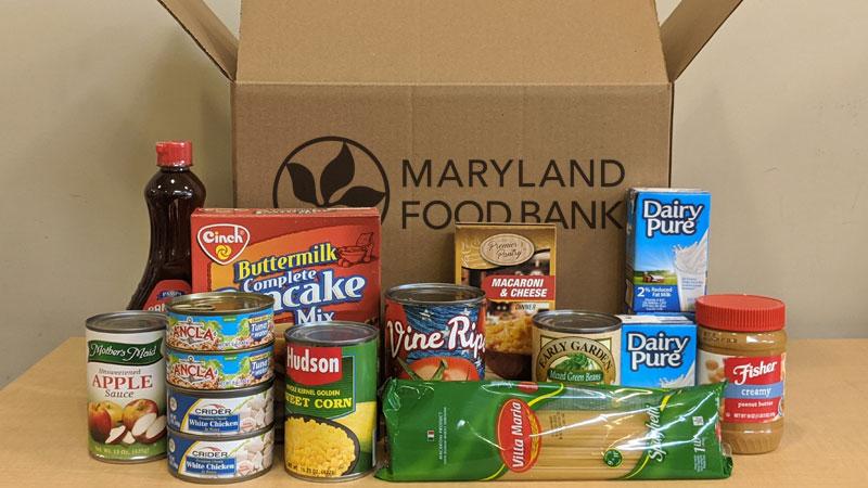 Maryland Food Bank Back Up Box