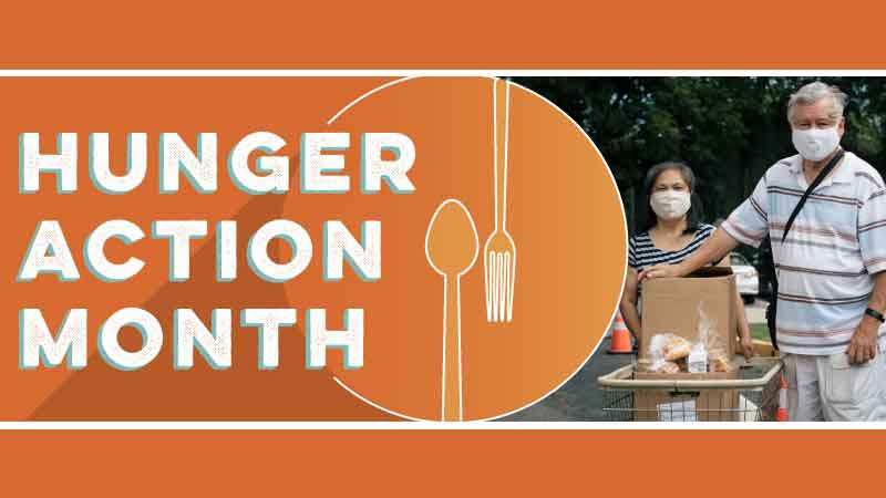social example for hunger action month
