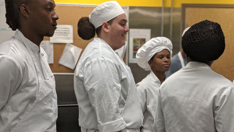 Joe Rodriguez in FoodWorks training